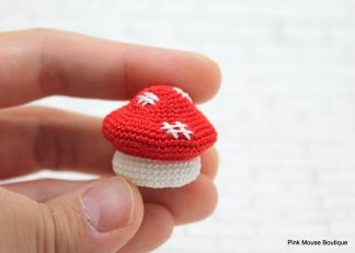 Boîte Champignon Miniature (Modèle au Crochet)